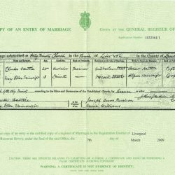 Marriage Certificates Reveal Additional Information About Birkenhead Beattie's