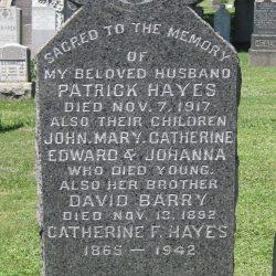 Patrick & Catherine Hayes At Calvary Cemetery