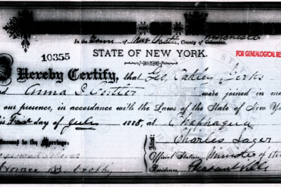 The Marriage of George Oakley Yerks to Annie Dora Cutler
