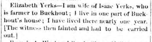 Elizabeth Yerks Testimony