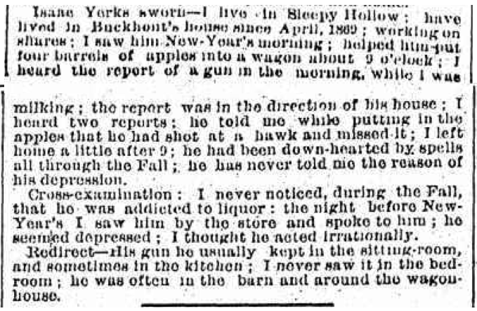 Issac Yerks Testimony