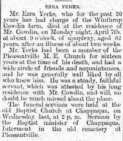 Ezra Yerks Obituary