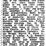 Mary Agnes Foley Obituary