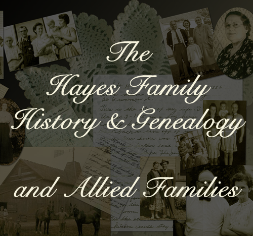 The Hayes Family Name Heritage Discovered... Finally!